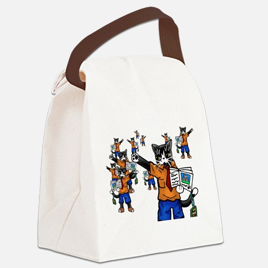 Tour guide Cats Canvas Lunch Bag