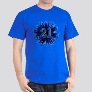 21st Blue Spray Dark T-Shirt