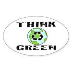 """THINK GREEN"" Oval Sticker"