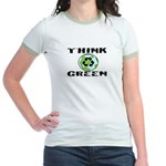 """THINK GREEN"" Jr. Ringer T-Shirt"