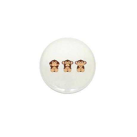 Hear, See, Speak No Evil Mini Button (10 pack)