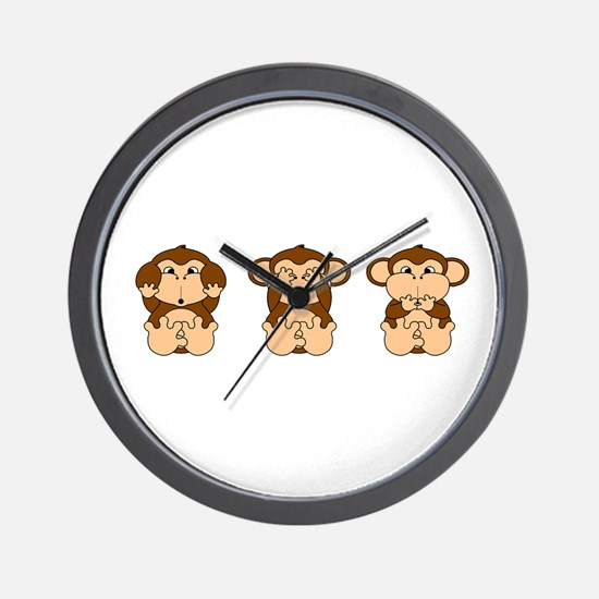Hear, See, Speak No Evil Wall Clock