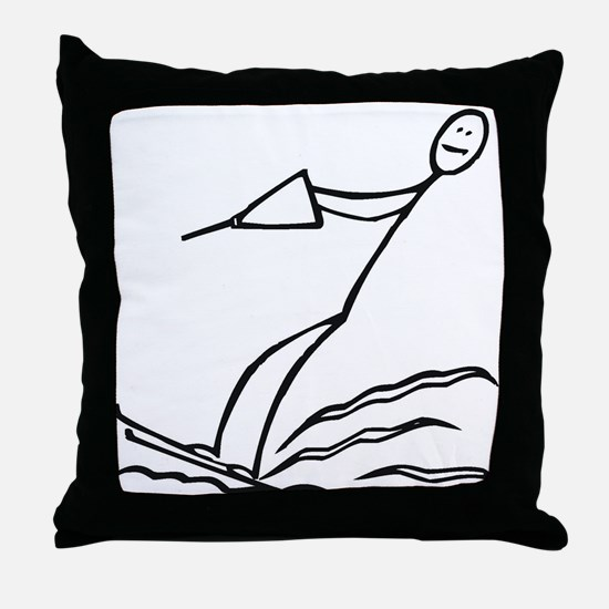 Water Skiing Throw Pillow