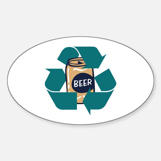 Recycle Beer Oval Decal