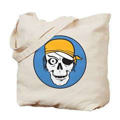 Skull Pirate 2 Tote Bag