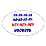 SPORTS CHANT Oval Sticker