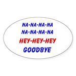 SPORTS CHANT Oval Sticker (10 pk)