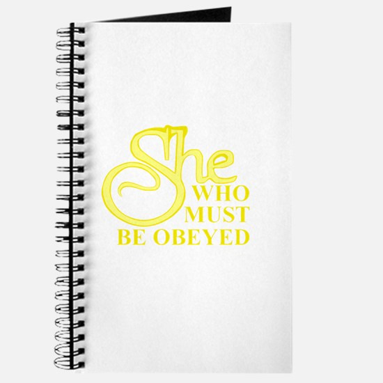 She Who Must Be Obeyed logo Journal