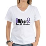 Hodgkin's Warriors Women's V-Neck T-Shirt