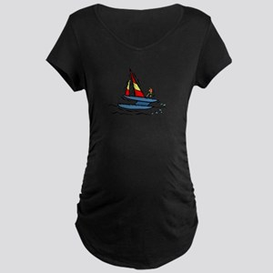 Sailboats Maternity Dark T-Shirt