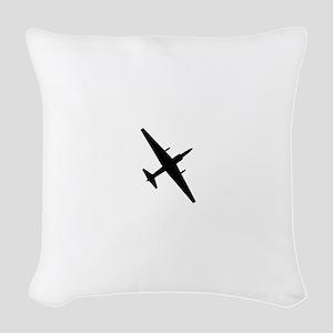 U-2 Dragonlady silhouette Woven Throw Pillow