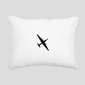 U-2 Dragonlady silhouett Rectangular Canvas Pillow