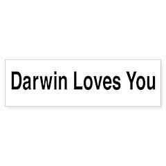 Darwin Loves You Bumper Sticker (10 pk)