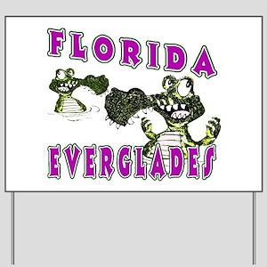Florida Everglades Alligators Yard Sign