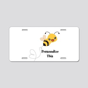 Personalized Cute Bumble Bee Aluminum License Plat