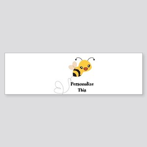 Personalized Cute Bumble Bee Bumper Sticker