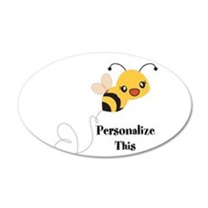Personalized Cute Bumble Bee Wall Decal