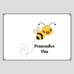Personalized Cute Bumble Bee Banner