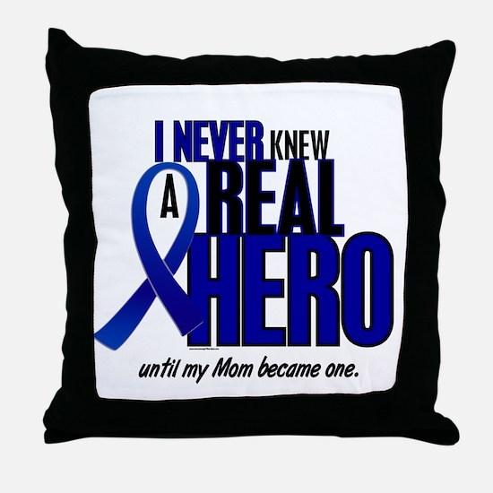 Never Knew A Hero 2 Blue (Mom) Throw Pillow