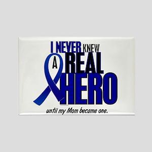 Never Knew A Hero 2 Blue (Mom) Rectangle Magnet