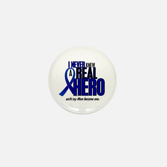 Never Knew A Hero 2 Blue (Mom) Mini Button