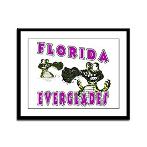Florida Everglades Alligators Framed Panel Print