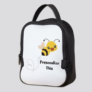 Personalized Cute Bumble Bee Neoprene Lunch Bag
