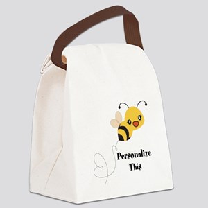 Personalized Cute Bumble Bee Canvas Lunch Bag