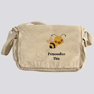 Personalized Cute Bumble Bee Messenger Bag