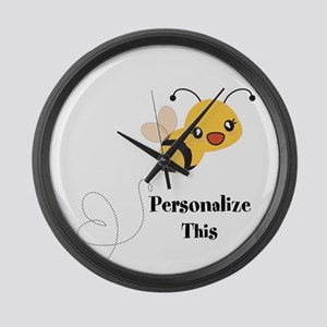 Personalized Cute Bumble Bee Large Wall Clock