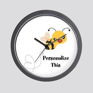 Personalized Cute Bumble Bee Wall Clock