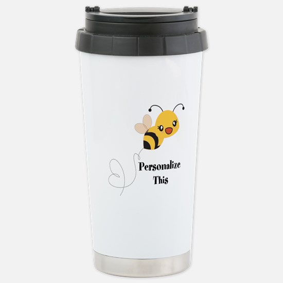 Personalized Cute Bumble Bee Travel Mug