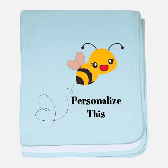 Personalized Cute Bumble Bee baby blanket