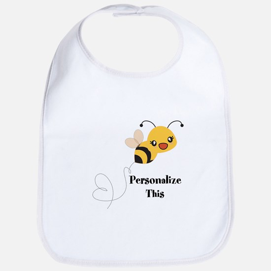 Personalized Cute Bumble Bee Baby Bib
