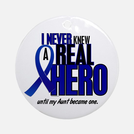 Never Knew A Hero 2 (Aunt) Ornament (Round)