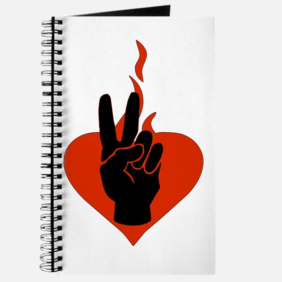 Flaming Peace Heart Journal