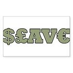 Slave Rectangle Sticker 10 pk)