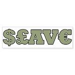 Slave Bumper Sticker (10 pk)