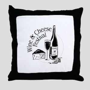 Wine & Cheese Festival Throw Pillow