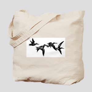 Flying Ducks Tote Bag