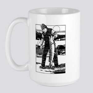 Ice Fishing Large Mug