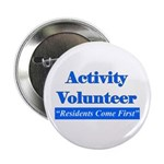 """Activity Volunteer - Rcf.png 2.25"""" Button"""