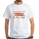 Powered By Bacon White T-Shirt