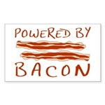 Powered By Bacon Sticker (Rectangle)