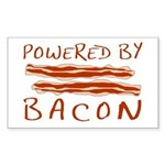 Powered By Bacon Sticker (Rectangle 10 pk)