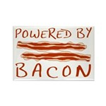 Powered By Bacon Rectangle Magnet (100 pack)