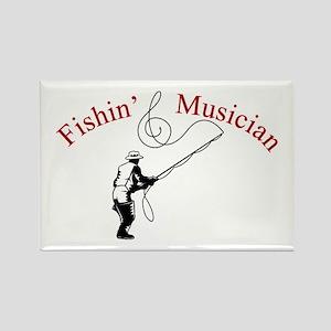 Fishin Musician Rectangle Magnet