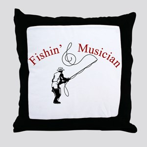 Fishin Musician Throw Pillow