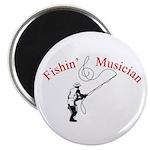 """Fishin Musician 2.25"""" Magnet (10 pack)"""