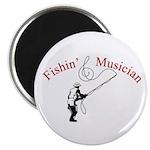 """Fishin Musician 2.25"""" Magnet (100 pack)"""